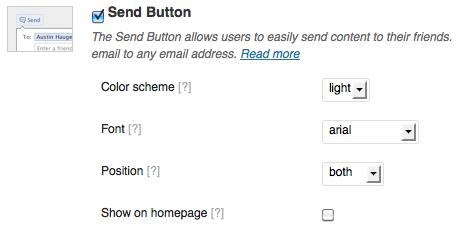 mostrar botón de envío