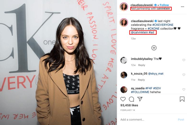 Calvin Klein Influencer