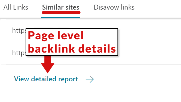 Captura de pantalla de Bing Backlink Checker Tool
