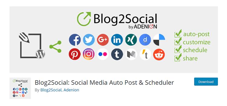 Blog2Social: Xuất bản tự động và lập lịch truyền thông xã hội