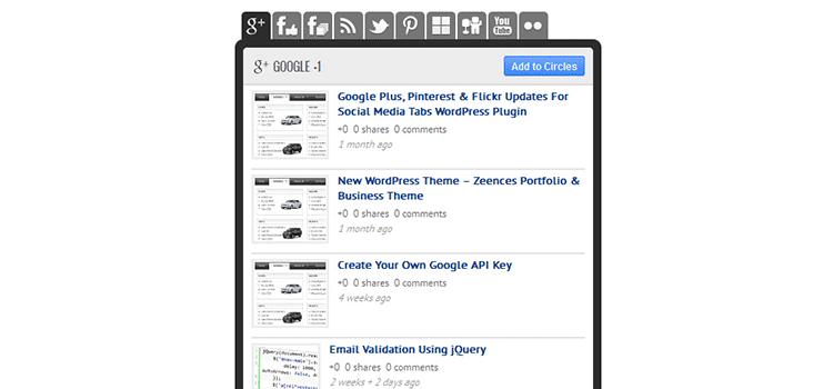 Các tab phương tiện truyền thông xã hội cho WordPress