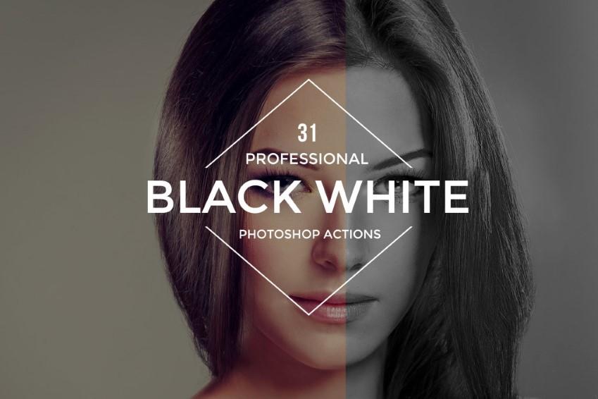 Akcie vo Photoshope čiernobiele