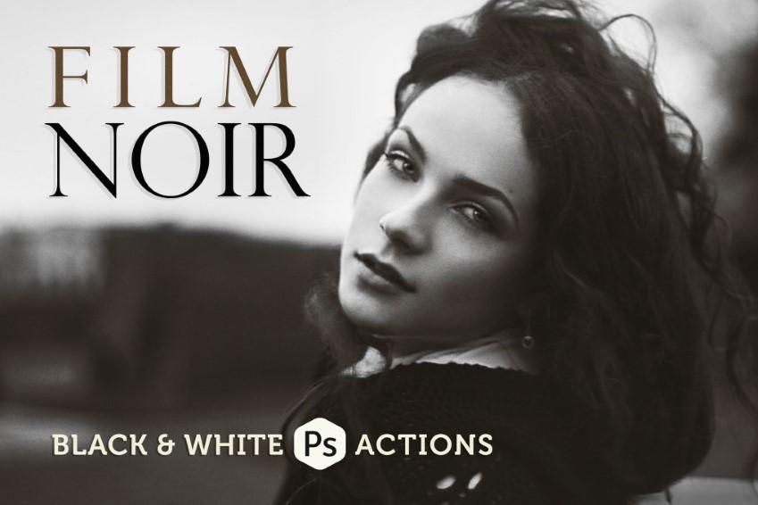 Phim Noir Tác vụ Photoshop đen trắng