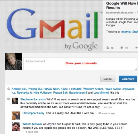 kết quả tìm kiếm thư trên google