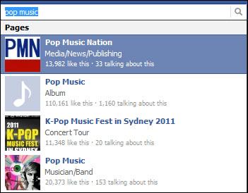 facebook pop music