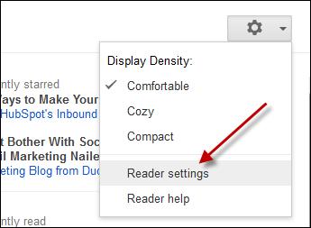 nastavenie čítačky google