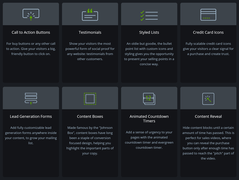 Elementos de contenido