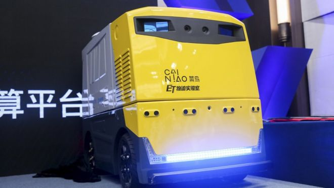 Alibaba y Robosense se unen para presentar un nuevo bot de entrega