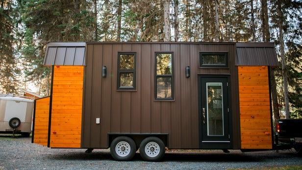 Esta pequeña casa está diseñada de tal manera que puede mantenerse caliente incluso en los inviernos más duros