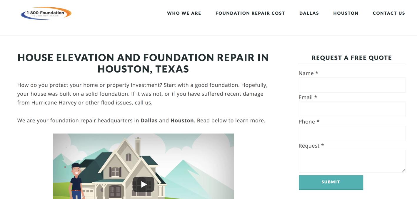 1800 home foundation