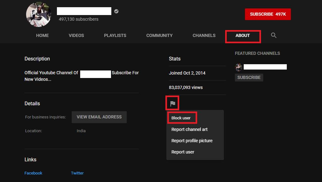 Bloquear canales de YouTube en PC