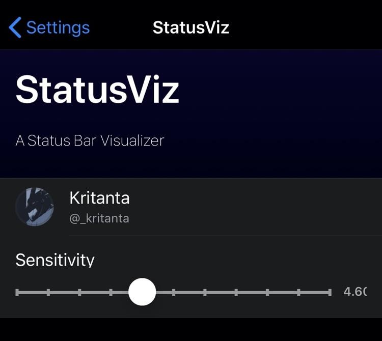 Obtenga un visor de audio único en su barra de estado con StatusViz 3
