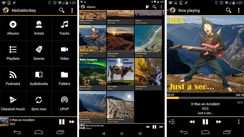 mediamonkey la mejor aplicación de reproductor de música para Android