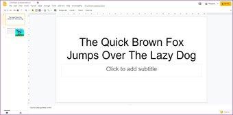 Añadir animaciones a Google Slides 1