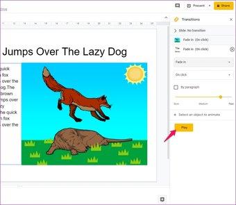 Agregar animaciones a Google Slides 11