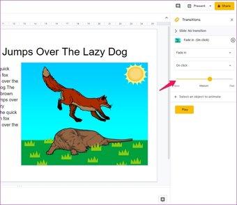 Agregar animaciones a Google Slides 10