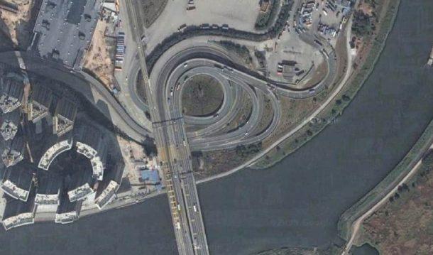 Puente sobre el collar del río Pearl Una solución retorcida a un curioso problema de tráfico_Imagen 6