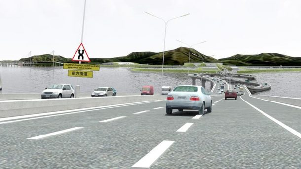 Puente sobre el collar del río Pearl Una solución retorcida a un curioso problema de tráfico_Imagen 3