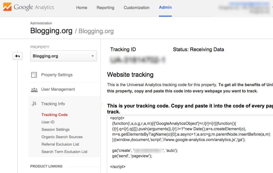 Código de seguimiento de Google Analytics completo