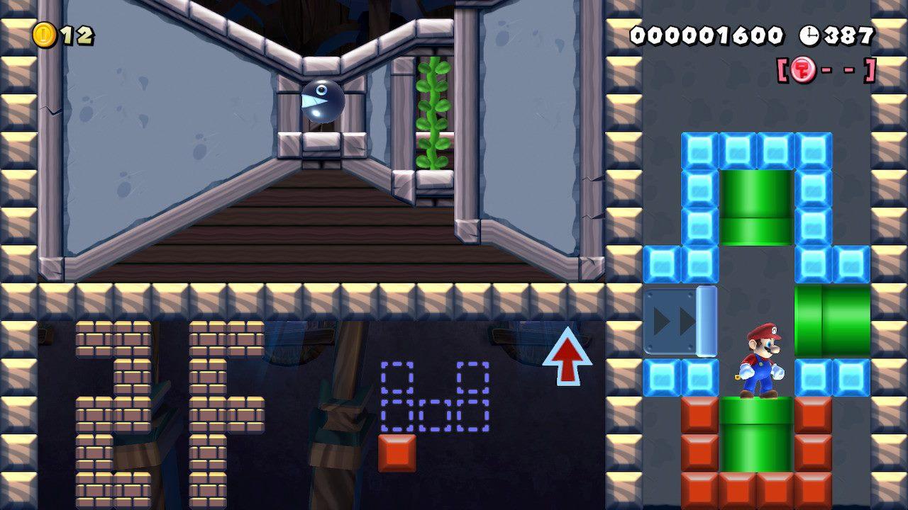 Estoy contento con la creatividad del creador.  Los jugadores crean misiones FPP en el Super Mario Maker 2 wizard 3