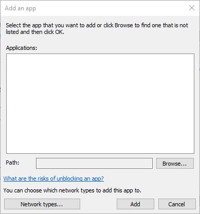 Agregar una ventana de aplicación backgroundtransferhost.exe