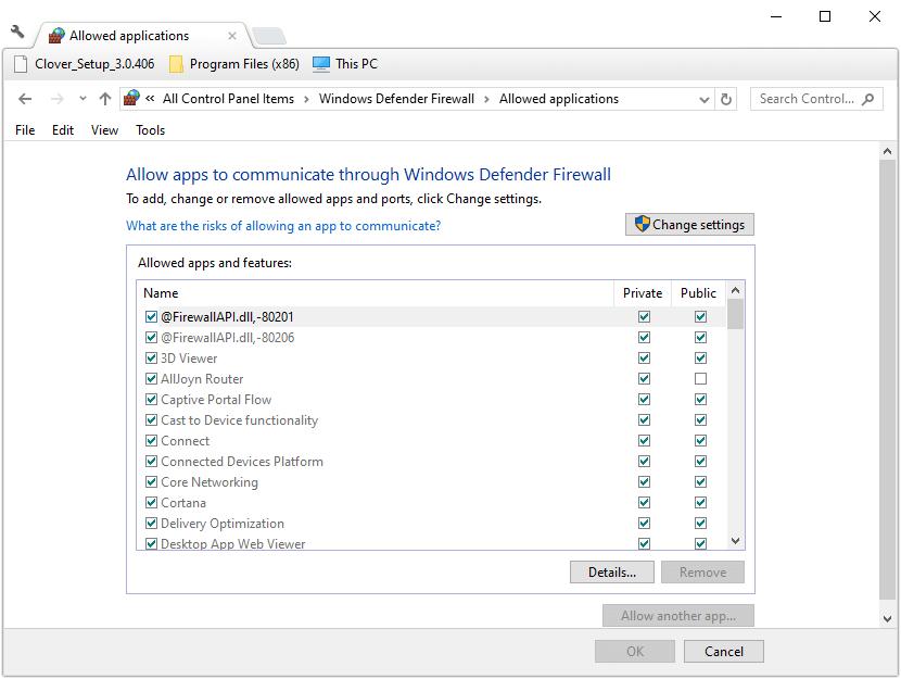 Configuración de la aplicación de firewall backgroundtransferhost.exe