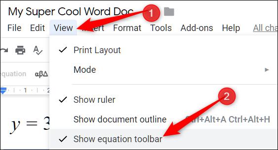 Uso del Editor de fórmulas en Google Docs 2