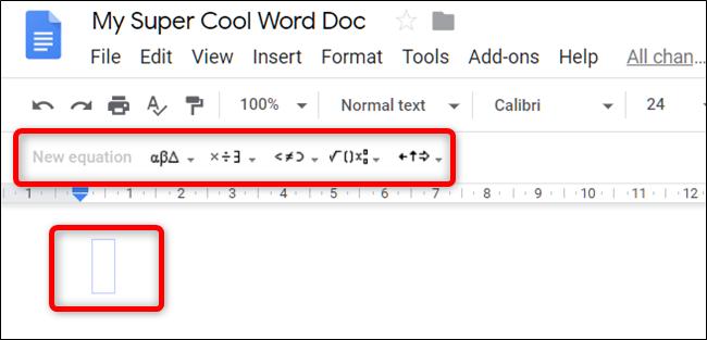 Una barra de herramientas con menús desplegables para símbolos, operandos, etc.  y se muestran entradas de texto para ecuaciones.