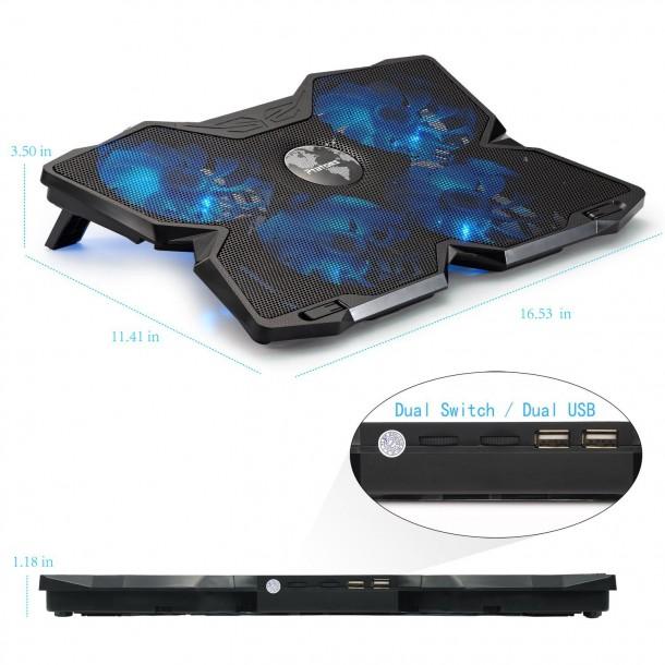 Almohadillas de enfriamiento para portátiles de pantalla de 15 pulgadas (8)