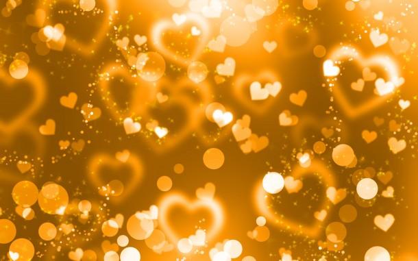 Corazón alrededor en tema amarillo