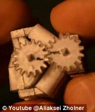 El motor Origami V8 que funciona 2