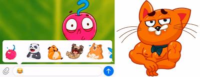 Telegram crea stickers animados