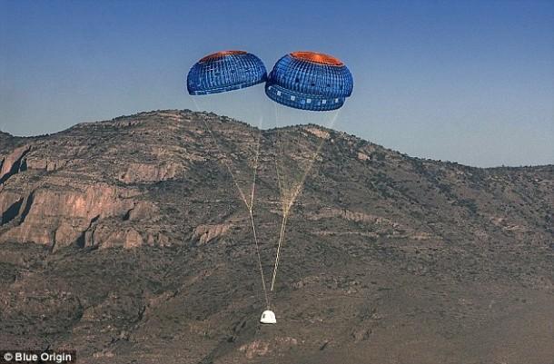 ¡El cohete reutilizable Blue Origin se lanzó y aterrizó con éxito, una vez más!  6 6