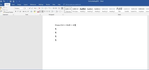 Cómo eliminar una página en Microsoft Word 2