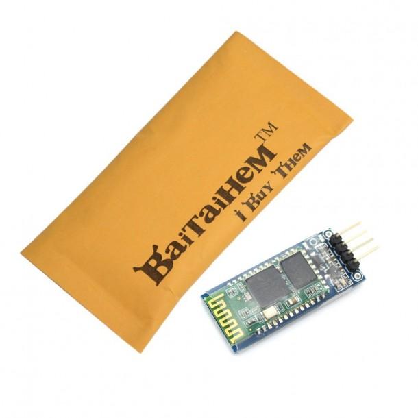 Baitaihem 4Pin Serial Arduino Módulo de receptor inalámbrico Bluetooth HC-06