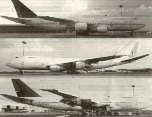 Tres Boeing 747 abandonados en el aeropuerto internacional de Kuala Lumpur