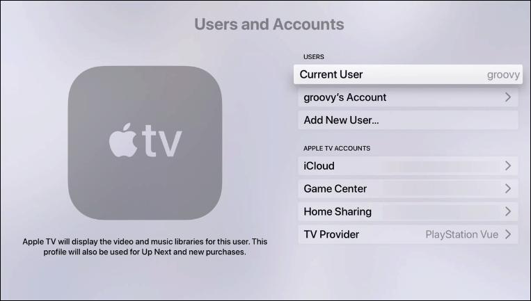 Cómo agregar usuarios y cambiar la cuenta activa Apple TV con tvOS 13 4