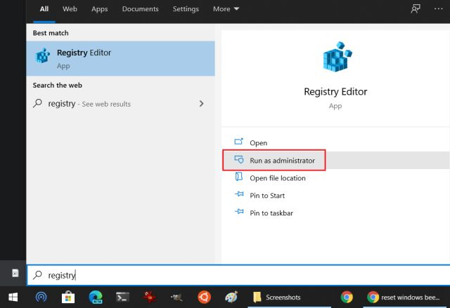 Deshabilitar Windows Defiende antivirus en Windows 10 Uso del registro