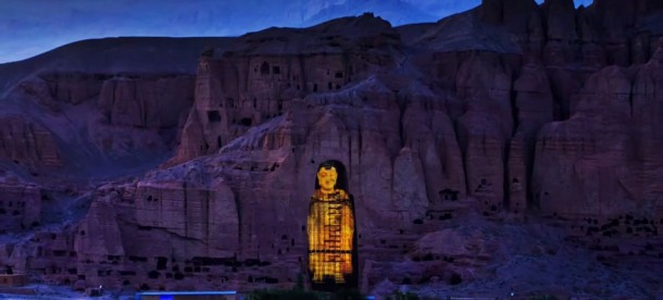 El Buda de Bamiyan de Afganistán resucitó con láser 3D 2