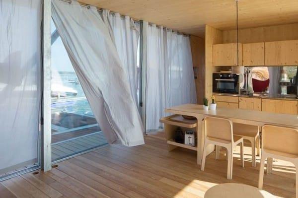 La increíble casa flotante es personalizable y autosuficiente 6