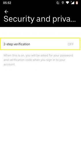 2- verifica Uber para Android.