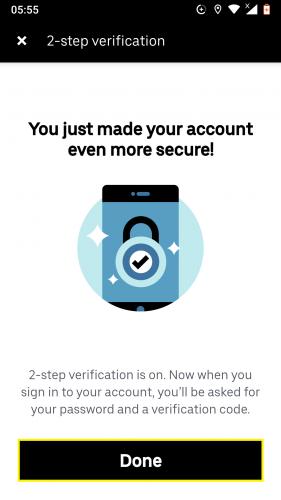 Cómo instalar 2 pasos de verificación en Uber para Android 6