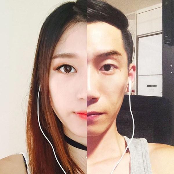 collage fotos pareja coreana