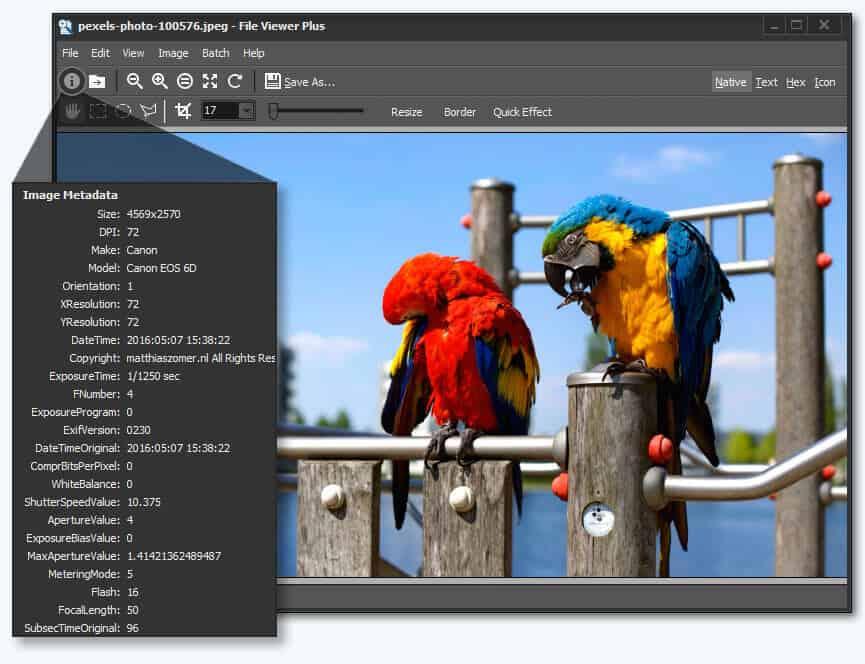 Abra la exploración, edición y conversión de archivos TGA con File Viewer Plus 2