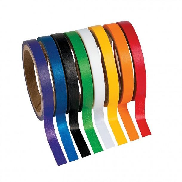 Juego de cintas Washi de colores sólidos primarios