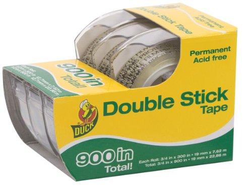 Duck Brand Cinta adhesiva doble permanente