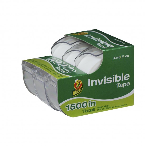 Henkel 00-20843 Duck 3/4-inch-by-500-Invisible Tape
