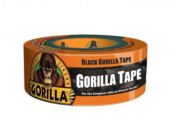 Cinta negra de gorila 1.88 in.  X 35 yardas, un rollo