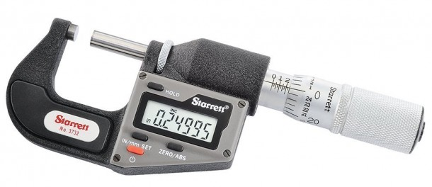 Starrett 3732XFL-1 Micrómetro electrónico métrico / en pulgadas