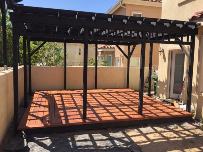 DIY patio trasero7